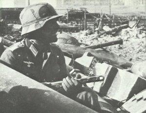 deutscher Stosstruppführer in Stalingrad