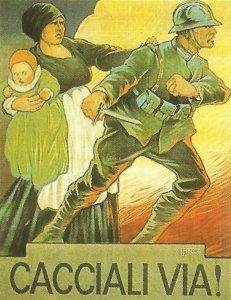 Italienisches Propagandaplakat nach Caporetto