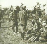 Türkische Kavallerie in einem Feldlager bei Jerusalem