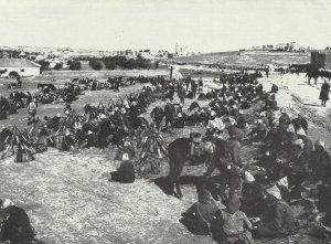 Türkische Truppen bei Jerusalem
