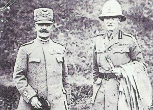 General Diaz mit britischem Genaerl an der Piave
