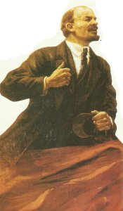 Lenin als strahlender Held der Revolution