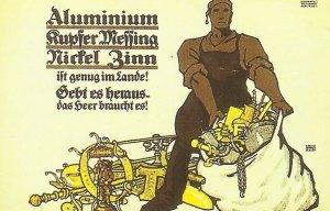 Plakat zum Aufruf an die Bevölkerug, die Rüstungsproduiktion zu unterstützen