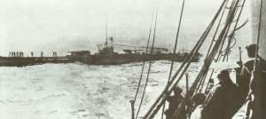 Deutsches U-Boot auf See.
