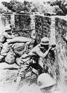 Japanische Infanterie China