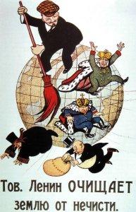 Kamerad Lenin säubert die Welt vom Dreck