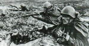 Sowjetische Marinesoldaten der Nordmeer-Flotte