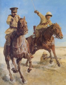 Britische Kavallerie bei einer Attacke
