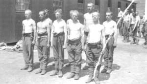 Rekruten für die britische Infanterie 1918