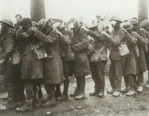 Durch Gas erblindete britische Soldaten