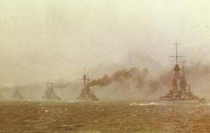 späte Unternerhmung der deutschen Hochseeflotte