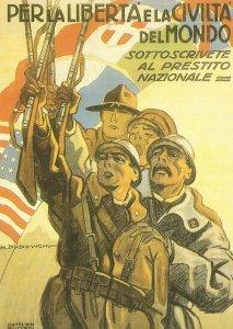 italienisches Propagandaplakat