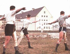 Beinamputierte ehemalige Soldaten der Wehrmacht