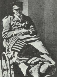 Ernest Hemingway im Hospital in Mailand