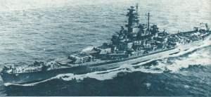 amerikanische Schlachtschiff 'USS South Dakota'