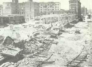 Der Bahnhof Ostiense nach den ersten alliierten Luftangriffen auf Rom.