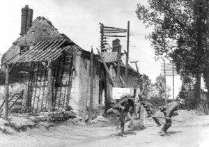 Deutsche Soldaten im Gefecht
