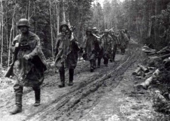 SS-Polizei-Division 1942 vor Leningrad