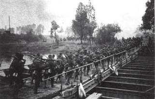 Polizei-Division überquert die Aisne