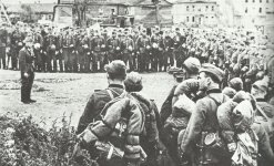 Apell eines Bataillons der Polizei-Division