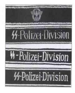 Manschettenbänder der SS-Polizei-Division