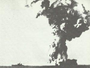 Explosion des modernsten italienischen Schlachtschiffes 'Roma'
