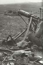 Vickers-MG indischer Truppen in Tunesien