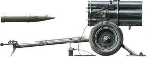21-cm Wurfgranate 42 mit 21-cm Nebelwerfer 42