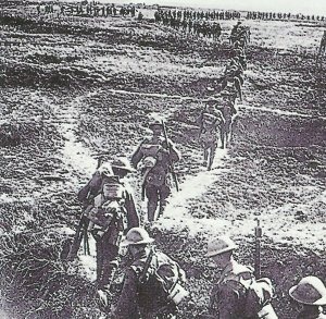 Kanadische Truppen marschieren nach vorn
