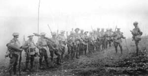 Zug australischer Infanterie