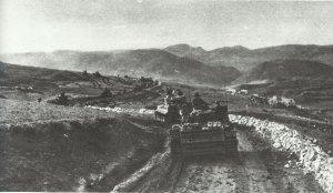 Panzerkolonne rückt gegen den Kasserine-Pass vor
