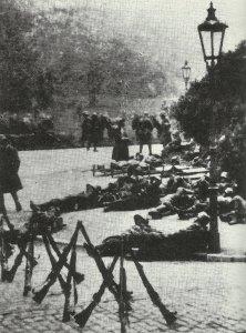 Ungarische Soldaten der österreichisch-ungarischen Armee in Prag