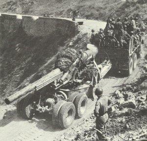 Schwere US-Artillerie Italien