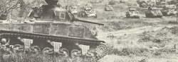 Sherman-Panzer Vorstoß auf Monte Cassino