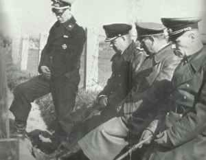 Rommel, Speidel, Ruge und Adjudant Lang