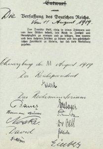 Präambel der endgültigen Verfassung des Deutschen Reiches