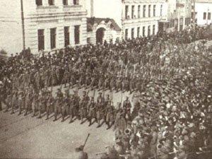 Tschechische Truppen in Samara