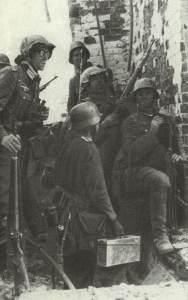eingeschlossene deutsche Soldaten