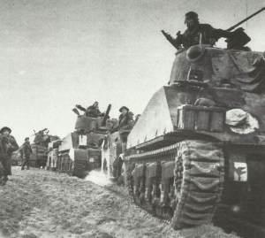 Sherman-Panzer bei Anzio