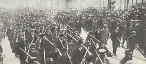 bewaffnete Arbeiter in Berlin