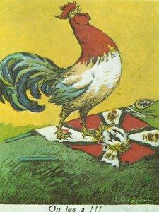französische Postkarte feiert den Sieg