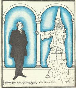 Gott zu Woodrow Wilson