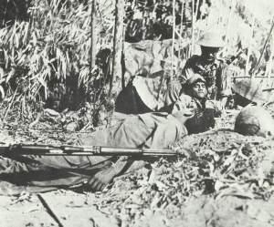 eroberte japanische Stellung