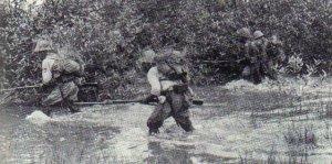 Japanische Infanterie Arakan-Front in Burma