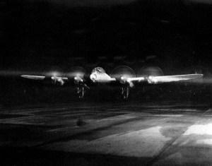 Start eines Lancaster-Bombers