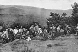 Tschechoslowakische Truppen im Kampf gegen die Ungarn