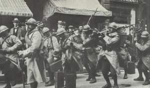 Französische Soldaten in Frankfurt am Main