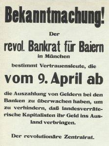Plakat der bayerischen Sowjetrepublik
