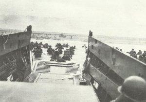 1. US-Infanterie-Division landet am blutigen Omaha-Beach