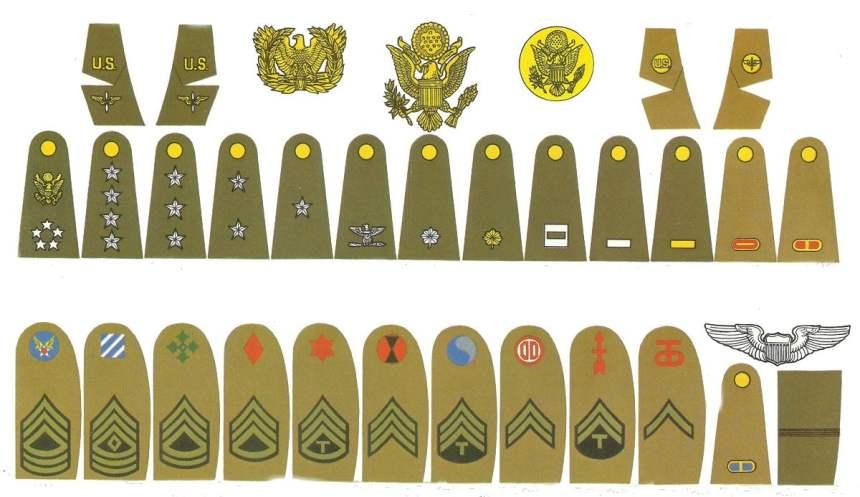 Abzeichen der US Army und US Air Force